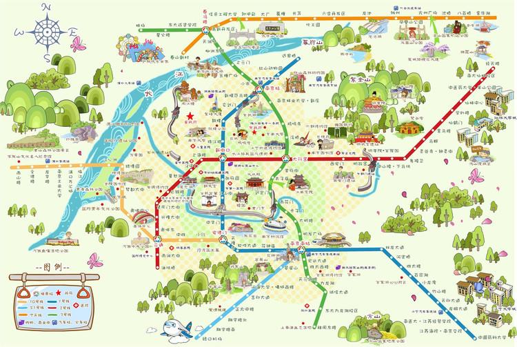 与钟山风景区相隔不远的景点包含有:玄武湖公园,南京博物院,总统府等