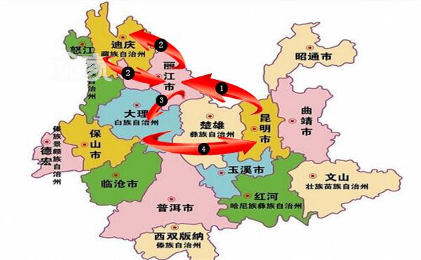 大理旅游景区地图