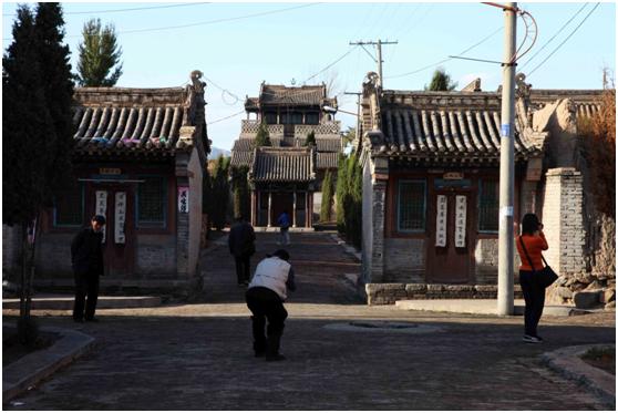 农村庙宇效果图图片