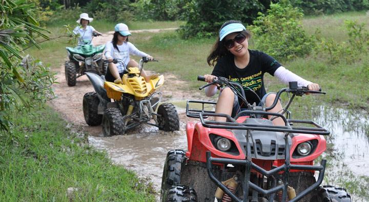 【口碑產品】普吉 攀牙灣ATV越野車+白水漂流5公里+騎大象一日游