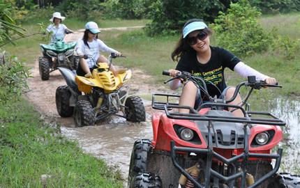【口碑产品】普吉 攀牙湾ATV越野车+白水漂流5公里+骑大象一日游