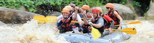 普吉岛当地玩乐 【口碑产品】普吉 攀牙湾atv越野车 白水漂流5公里 骑