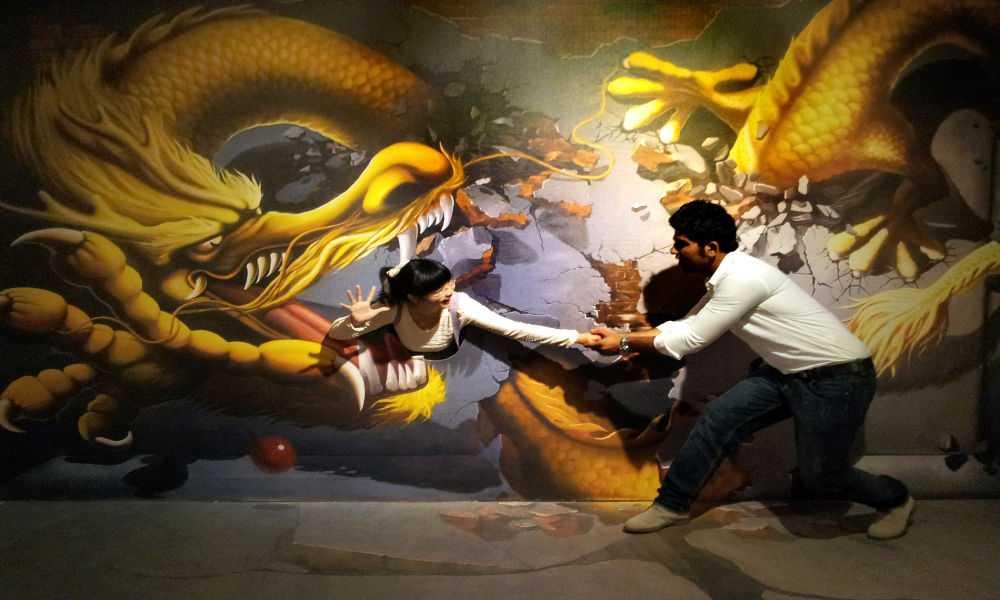 3d魔幻画展4d恐龙动物世界