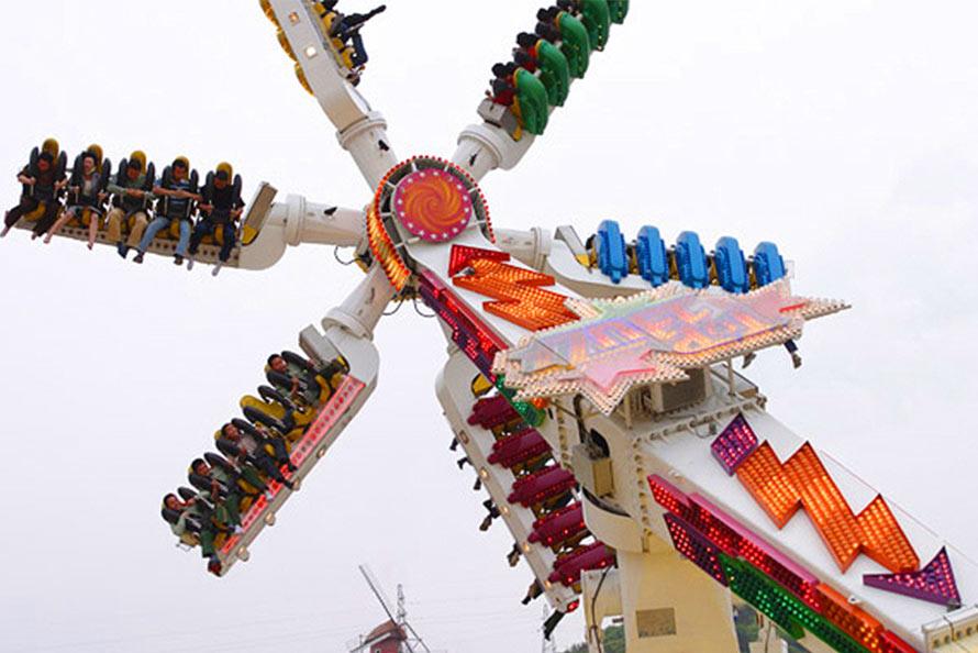 游乐项目:悬挂过山车,雨神之锤,风神之手,雷神怒吼  失落
