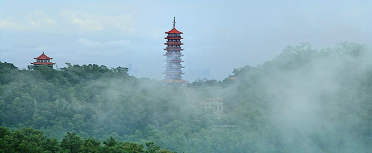 游玩景点大雁山风景区 大雁山森林公园开发于1991年,由鹤山市政府