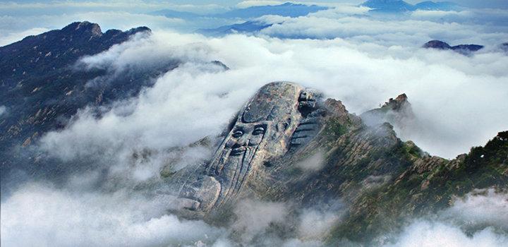 山东 临沂 沂蒙山旅游区(龟蒙景区) 放大地图  蒙山寿星巨雕位于主峰