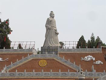 药王雕塑手绘图