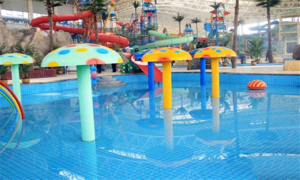 造浪池 游玩景点 天乐城水世界 有动物造型主题区,亲子乐园,以及梦幻