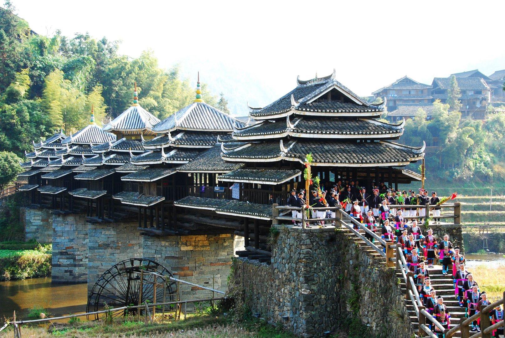 穿斗木结构建筑是中国南方传统建筑中常用的结构形式